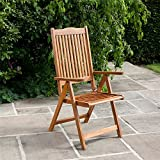 BillyOh Windsor Reclining Wooden Garden Chair - Folding Armchair