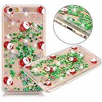iPhone 6S Plus Hülle,iPhone 6 Plus Hülle,Glänzend Glitzer Diamant Treibsand Fließen Flüssig Flüssigkeit Handyhülle Handy Hülle Tasche Durchsichtig Schutzhülle,Christmas Xmas Weihnachten #5