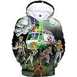 QRTU Scooby Doo Unisex Niño Niña Adolescente Juventud 3D Capucha Sudadera Jersey Suéter con Capucha Pull-Over