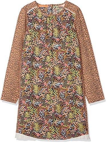 Scotch & Soda R´Belle Mädchen Kleid Drapey Dress with Jungle Print & Ruffle, Mehrfarbig (Combo A 217), 152 (Herstellergröße: 12) (Jungle Print Kleid)