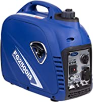 Ford 2200 Watts Peak & 2000 Watts Rated Silent Petrol / Gasoline Powered Portable Inverter Generator, Blue
