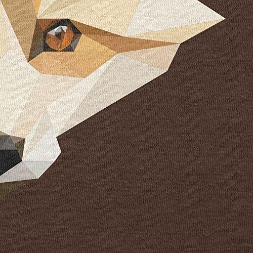 Texlab–Foxy polygons–sacchetto di stoffa Marrone