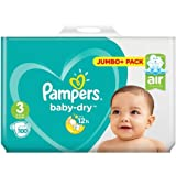 Pampers Baby-Dry Taille 3couches 100Jumbo Lot