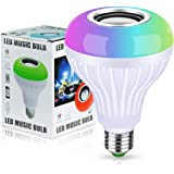 LED Music Bulb Bluetooth4.0 Light Speaker- Multi-color changing E27 12W LED light bulb with Remote Control for Home/Stage