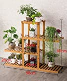 Shelf in Living Room Bedroom Kitchen Solid Wood Multi - Storey Floor Plant Stand Flower Pot Shelf Flower Rack For Balcony Living Room Indoor Decoration Rack YYJRR-Corner Shelves ( Size : C )