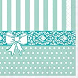 Sovie Home Serviette BINE / Tissue-Servietten 33x33 cm / saugstarke und hochwertige Einweg-Servietten / ideal für Hochzeit & Feiern im Frühling & Sommer (Mint)