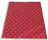 Ideenreich 2143 Krabbeldecke Krabbeltraum, Punkt rot-weiß, 130 x 150 cm