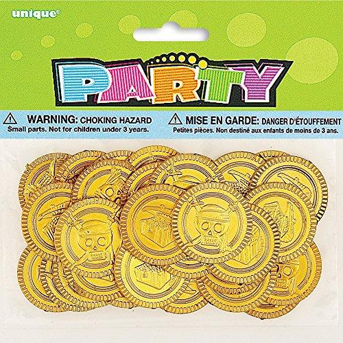 Partygram 86259 30 Monedas de Oro Piratas