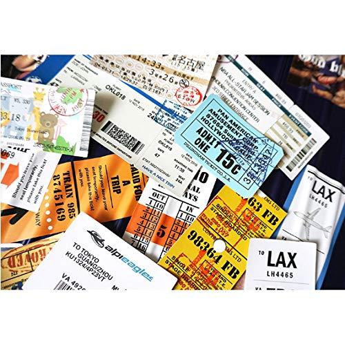 Pasaje aéreo de embarque Boletos de viaje creativos Maleta pegatinas para Laptop Bolsas de equipaje Bicicleta Teléfono Enfriar Pegatinas 20 unids