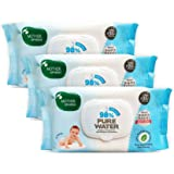 Mother Sparsh 98% Water Based Scented Wipes Plant derived Fabric I mild Scented, 80 Pcs/Pack, Pack of 3