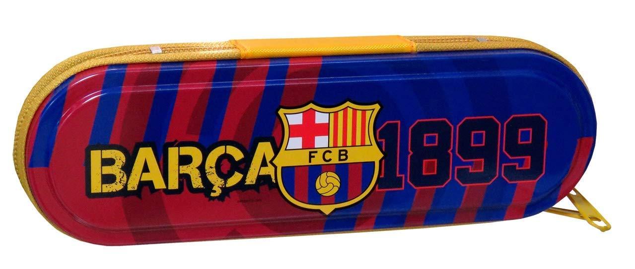 FCB FCBARCELONA- Manualidades/Escolares Unisex Adulto Plumier de Metal con Cremallera de FC Barcelona PM-23-BC, Multicolor, Talla única (CYP Brands 1)