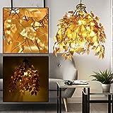 Pendel Lampe Blätter Äste Design gold-färbig Wohn Ess Zimmer Decken Hänge Beleuchtung Globo 15059G