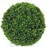 Buchsbaum-Kugel, Kunstpflanze, groß, Kunstpflanze, innen/außen, 27 cm