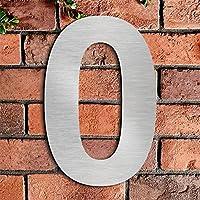 Cepillado número de casa 0 zero -20.5 cm 8.1 in-made de sólido Acero inoxidable 304 flotante apariencia, fácil de instalar