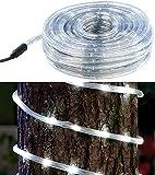 Lunartec Lichtschlauch aussen: LED-Lichtschlauch für Innen- & Außenbereich, 720 LEDs,20 m, weiß, IP44 (Leuchtschlauch)