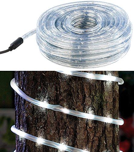 Lunartec Lauflichtschlauch: LED-Lichtschlauch für Innen- & Außenbereich, 720 LEDs,20 m, weiß, IP44 (Lichtschläuche aussen)