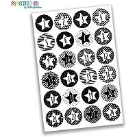 24 Numéro de calendrier de l'Avent Stickers - Stickers Bricolage - pour la fabrication et le remplissage - Conception d'autocollant Nr. 30
