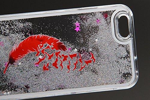 Voguecase® Per Apple iPhone 5C, Sabbie mobili stella Hard Skin Protettivo Skin Custodia Protettiva Shell Case Cover (argento-fiori di ciliegio gatto bianco) Con free Stilo Penna argento-piume G