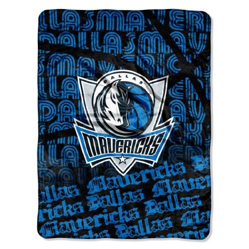 The Northwest Company NBA Redux Micro Raschel Tagesdecke, offizielles Lizenzprodukt, 116,8 x 152,4 cm, Herren Unisex-Erwachsene Damen, Team Color, 46x60-Inch - Dallas Mavericks Team Fleece