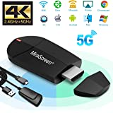 Wifi Display Dongle – 2.4G + 5G Wireless 4K HDMI Display Adapter, Mini Mirroring Supporto Miracast AirPlay DLNA per Android S