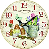 Molhome Vintage Orologio da Parete, Legno, Multicolore, 34 x 34 x 4 cm