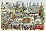 4000 Pieces Large Wooden Jigsaw Puzzles,Educational Toys, Impression London, Relieve Stress Educational Puzzle