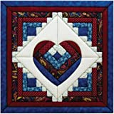 Quilt Magic - Kit para Patchwork (39,4 x 39,4 cm), diseño de corazón