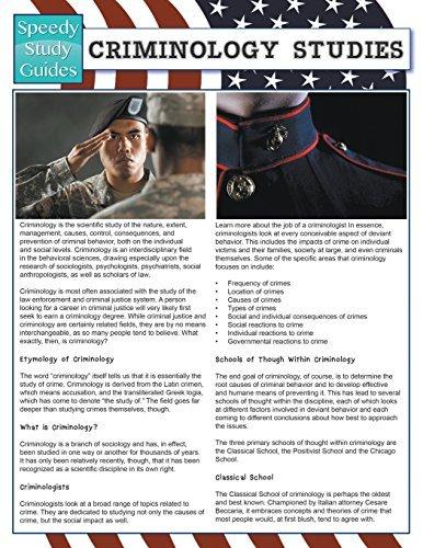 Criminology Studies (Speedy Study Guides) by Speedy Publishing LLC (2015-04-25)