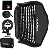 GODOX Softbox 80cm x 80cm Flash Softbox Universal Plegable Kit con Soporte Speedlite Estilo S para Flash Bowens Mount (SFGV80