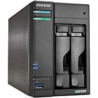AS6602T - ASUSTOR Lockerstor 2, Intel Celeron J4125 Quad-Core Gemini Lake -Refresh, 4GB DDR4, 2.5GbE x2, M.2 Slots (2280 NVMe SSD) x2
