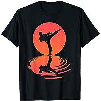 Karaté Et Kung Fu Silhouette Shotokan Cadeau Arts Martiaux T-Shirt