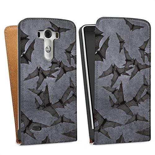 LG G3 Tasche Hülle Flip Case Fledermaus Bat Vampir (G3-fledermaus-tasche)