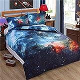 Galaxy Duvet Cover Set & Pillowcase Non Iron Parcale Bedding Set – Double