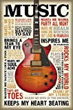 bCreative Music Inspires Me (Officially Licensed) Poster Medium 18 X 27 inches