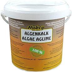 Hubey Algenkalk, kohlensaurer Kalk aus Meeresalgen fein vermahlen, Gartenkalk Rasendünger Rasenkalk Algenkalkpuder Algenkalkpulver Bodenaktivator Rotalge Lithothamnium Calcareum