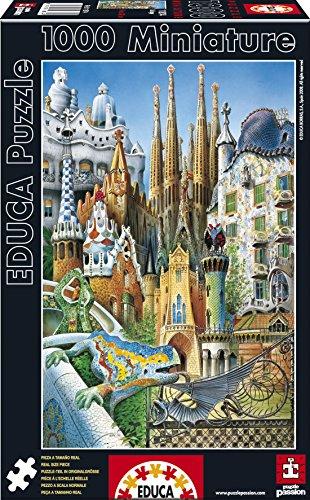 Preisvergleich Produktbild Educa 11874 - Gaudi Collage-Miniature Puzzle, 1000 Teile