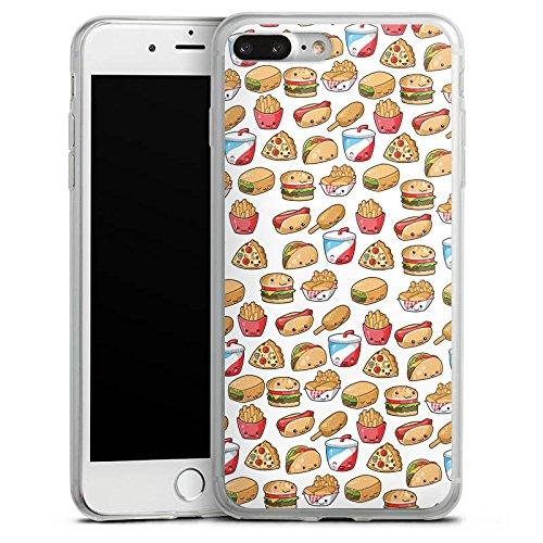 Apple iPhone 8 Plus Slim Case Silikon Hülle Schutzhülle Hamburger Pommes Pizza Silikon Slim Case transparent