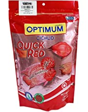 Optimum Cichlid Quick Small Pellet Fish Food, Red, 300 g