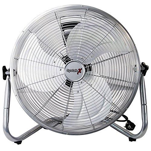 Bodenventilator 45cm - Retro Windmaschine sehr leise 100 Watt -gefühlte 150 Watt, Fotostudio - Home & Office tauglich - Raumventilator Axialventilator Vollmetall Ventilator 90°