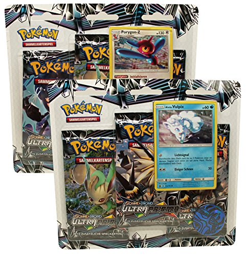 Pokemon - Sonne und Mond Serie 5 - 3-Pack Blister Set Porygon Z + Vulpix - Deutsch