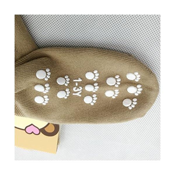 TUKA Calcetines Antideslizantes Unisex para bebés 1 a 3 años, ABS Calcetines para niños niñas, no-de la resbalón de… 2