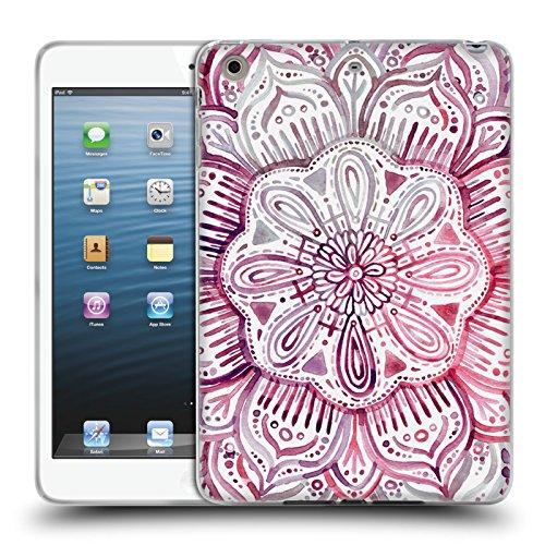 Preisvergleich Produktbild Offizielle Micklyn Le Feuvre Burgund Aquarell Mandala 2 Soft Gel Hülle für Apple iPad mini 1 / 2 / 3