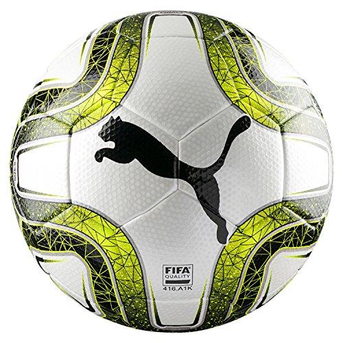 PUMA FINAL 3 Tournament (FIFA Quality) Fußball, White-Lemon Tonic Black, 5 (Puma Fußball)