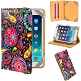 "32nd® Designer book wallet PU leather case cover for Samsung Galaxy Tab 3 7"" T210 + screen protector and cleaning cloth - Jellyfish"
