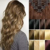 Best Full Hair Remy Hair Extensions - FUT Grade 7a 18 Clips in 8 PCS Review