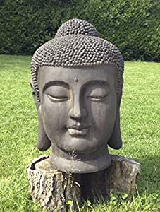 loft asia t te de bouddha g ante 70 cm d coration zen pour int rieur ext rieur jardin zen. Black Bedroom Furniture Sets. Home Design Ideas