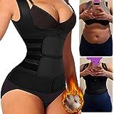 Women Waist Trainer Corset Zipper Vest Adjustable Neoprene Body Shaper Cincher Tank Top Waist Shapewear Body shaper