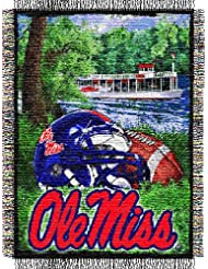 NCAA Mississippi Rebels 48-Inch-by-60-Inch Acrylic Tapestry Throw