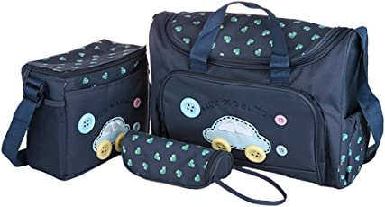 Electomania® 4Pcs Baby Nappie Diaper Changing Bags Sets (Dark Blue)