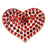 Gorgeous Crystal Rhinestone Love Hearts Brooch Pins for sale  Delivered anywhere in Ireland